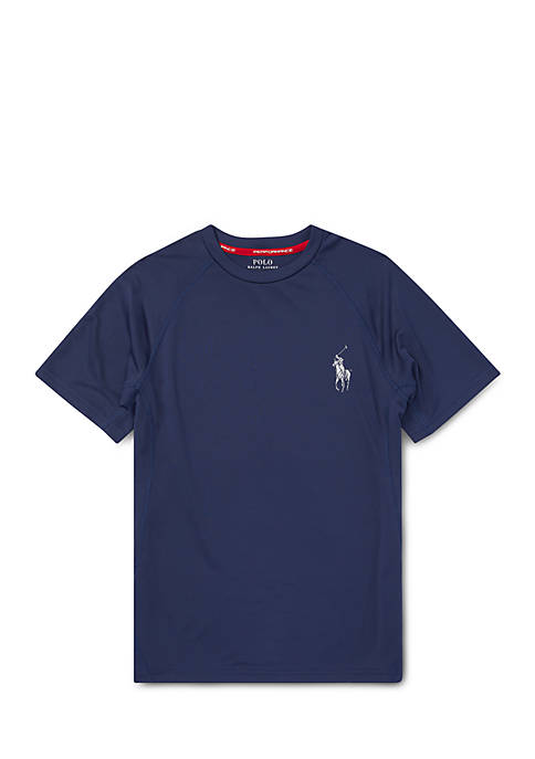Ralph Lauren Childrenswear Boys 8-20 Performance Crewneck T-Shirt