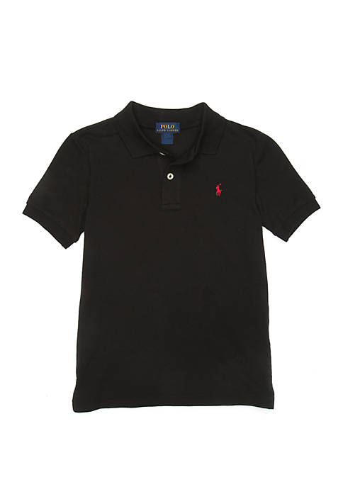 Ralph Lauren Childrenswear Boys 4-7 Knit Black Polo