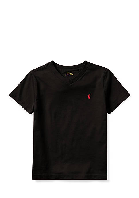 Ralph Lauren Childrenswear Cotton Jersey V-Neck T-Shirt Boys