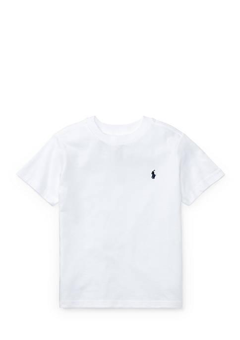Ralph Lauren Childrenswear Cotton Jersey Crewneck T-Shirt Boys