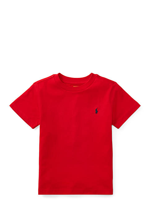Ralph Lauren Childrenswear Cotton Jersey Crew Neck T-Shirt