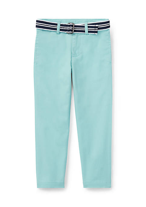 Ralph Lauren Childrenswear Belted Stretch Skinny Chino Pants