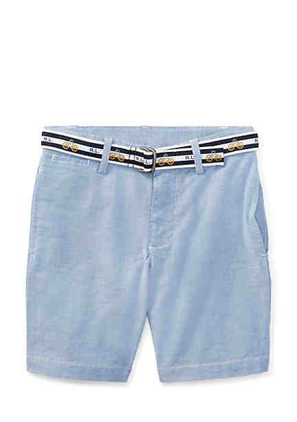 Ralph Lauren Childrenswear Slim Fit Belted Stretch Shorts Boys 4-7 ...