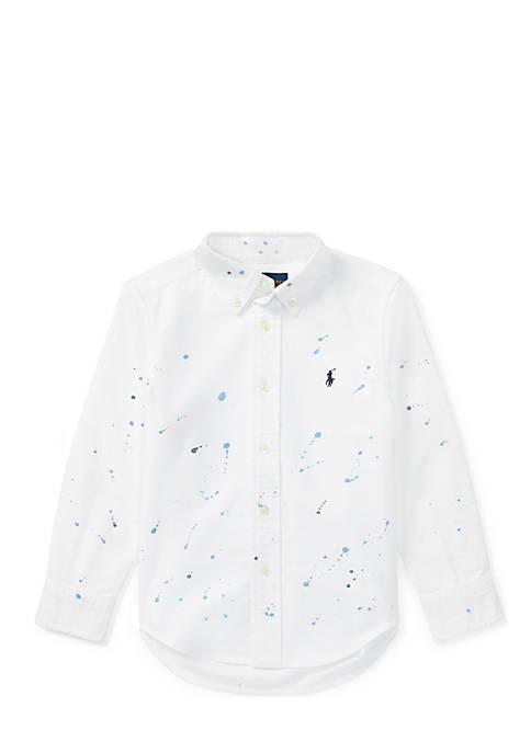 Ralph Lauren Childrenswear Paint-Splatter Cotton Shirt Boys 4-7
