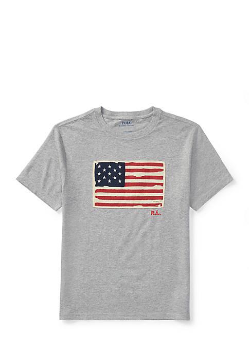 Ralph Lauren Childrenswear Flag Cotton Jersey T-Shirt Boys