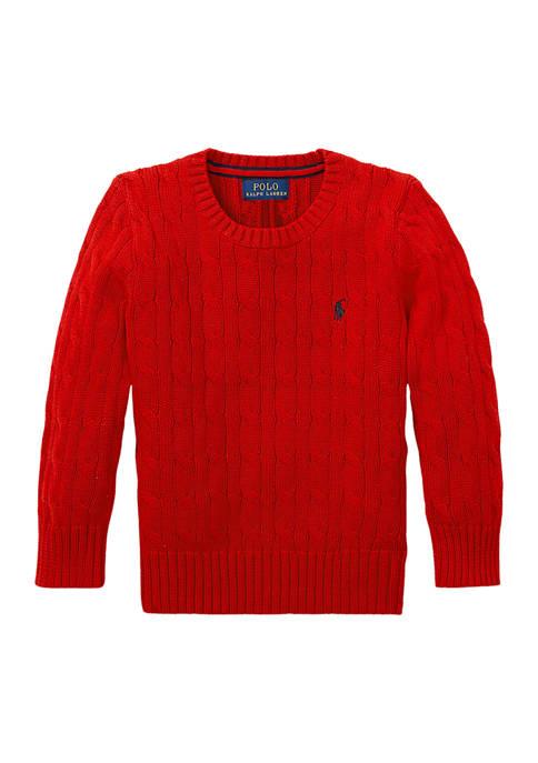Ralph Lauren Childrenswear Boys 4-7 Cable Knit Cotton
