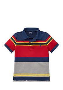 Boys 4-7 Striped Performance Lisle Polo