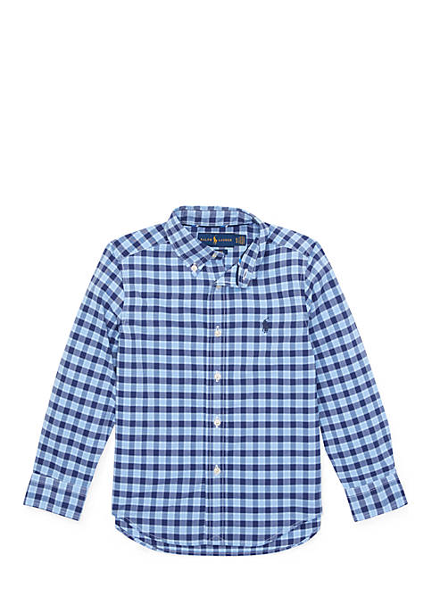 Ralph Lauren Childrenswear Boys 4-7 Plaid Performance Poplin