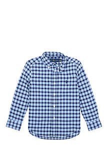 Boys 4-7 Plaid Performance Poplin Shirt