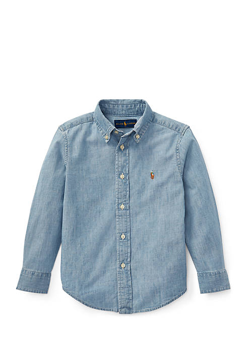Ralph Lauren Childrenswear Boys 4-7 Indigo Cotton Chambray