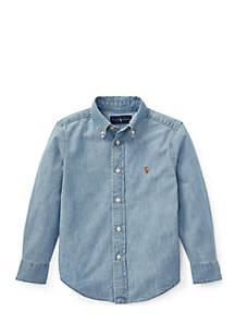 Boys 4-7 Indigo Cotton Chambray Shirt