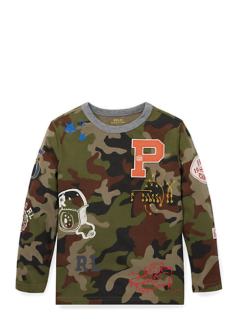 Ralph Lauren Childrenswear Boys 4-7 Camo Cotton Graphic