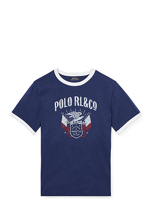Ralph Lauren Childrenswear Boys 4-7 Jersey Graphic T-Shirt