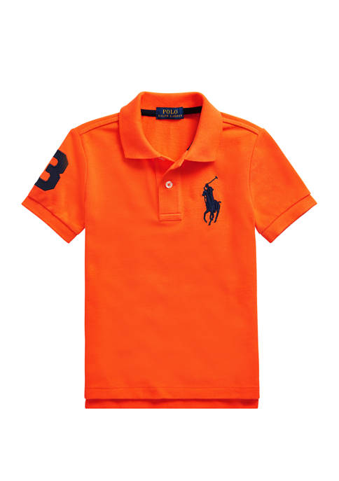 Boys 4-7 Cotton Mesh Polo Shirt