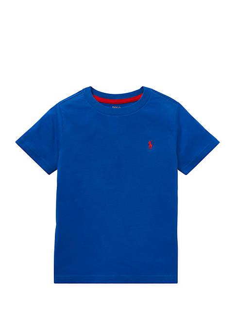 Boys 4-7 Cotton Jersey Crewneck T-Shirt