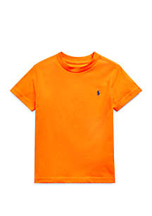 Ralph Lauren Childrenswear Boys 4-7 Cotton Jersey Crew Neck T-Shirt