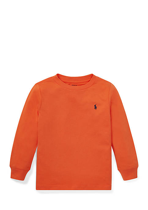 Ralph Lauren Childrenswear Boys 4-7 Cotton Long-Sleeve T-Shirt