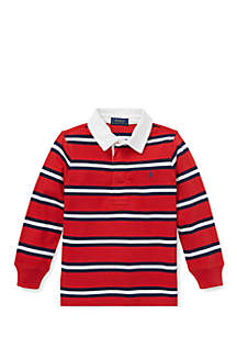 Boys 4-7 Striped Cotton Jersey Rugby Shirt