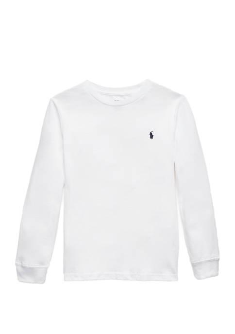 Ralph Lauren Childrenswear Boys 4-7 Cotton Jersey Crewneck
