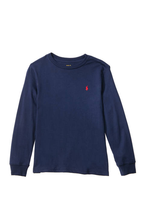 Ralph Lauren Childrenswear Boys 4-7 Cotton Jersey Crewneck