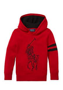 Boys 4-7 Big Pony Merino Wool Hoodie