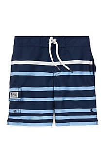 Boys 4-7 Kailua Striped Swim Trunk