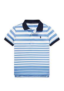 Boys 4-7 Striped Performance Lisle Polo