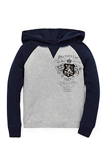 Boys 4-7 Waffle Knit Graphic Hoodie