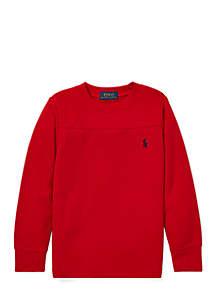 Boys 4-7 Waffle Knit Crew Neck T-Shirt