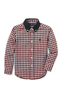 Boys 4-7 Tartan Cotton Poplin Shirt