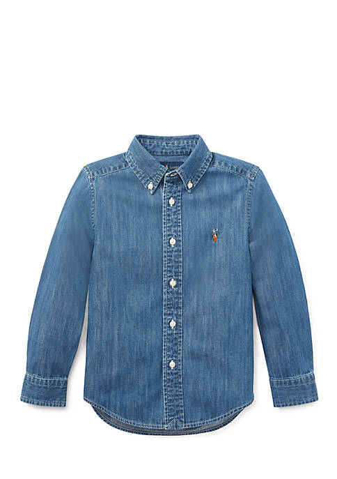 Ralph Lauren Childrenswear Boys 4-7 Cotton Chambray Sport