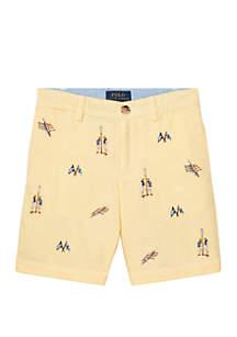 Ralph Lauren Childrenswear Boys 4-7 Slim Fit Cotton Oxford Shorts