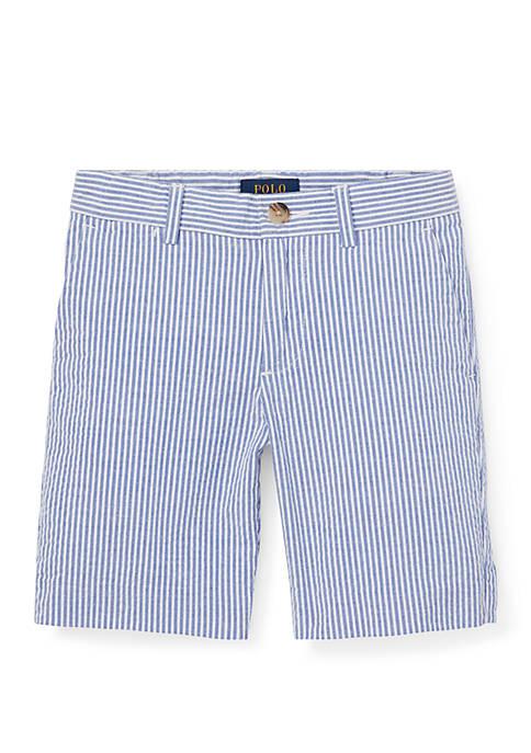 Boys 4-7 Slim Stretch Seersucker Shorts