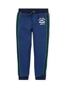 Ralph Lauren Childrenswear Boys 4-7 Tapered Stretch Cotton Joggers