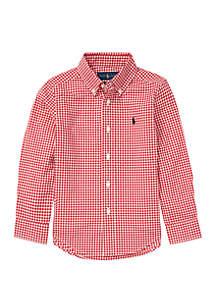 Ralph Lauren Childrenswear Boys 4-7 Gingham Cotton Poplin Shirt