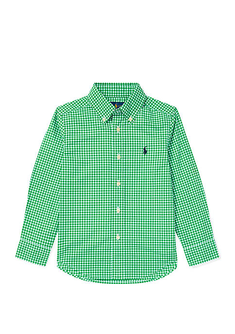 Ralph Lauren Childrenswear Boys 4-7 Gingham Cotton Poplin