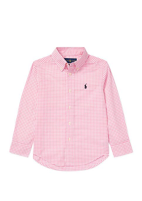 Ralph Lauren Childrenswear Boys 4-7 Gingham Cotton Poplin