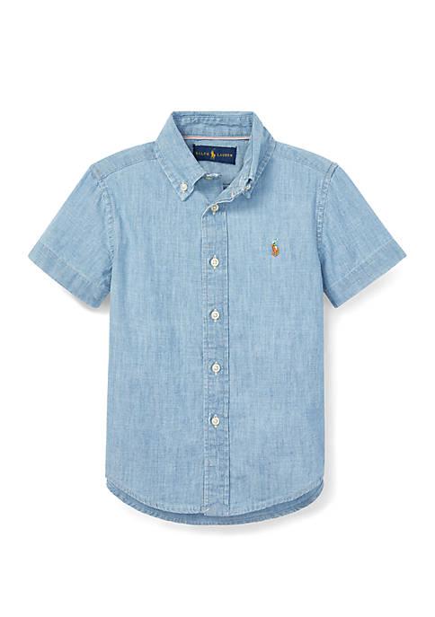 Boys 4-7 Cotton Chambray Shirt