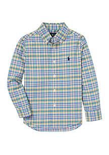 Ralph Lauren Childrenswear Boys 4-7 Plaid Cotton Poplin Shirt