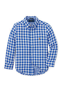 Ralph Lauren Childrenswear Boys 4-7 Reversible Plaid Cotton Shirt