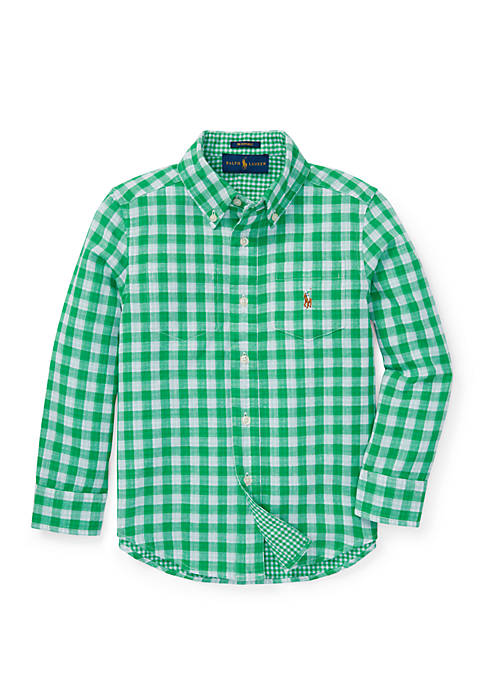 Boys 4-7 Reversible Plaid Cotton Shirt