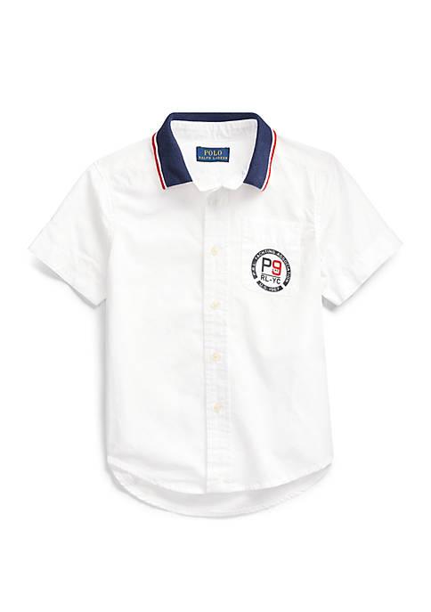 Boys 4-7 RL YC Cotton Poplin Shirt