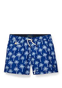 Ralph Lauren Childrenswear Boys 4-7 Traveler Polo Bear Swim Trunks