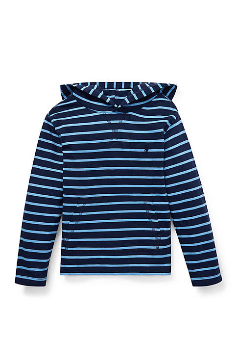 Boys 4-7 Striped Cotton Jersey Hooded Tee