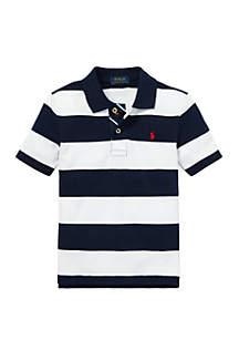Ralph Lauren Childrenswear Boys 4-7 Striped Cotton Mesh Polo Shirt