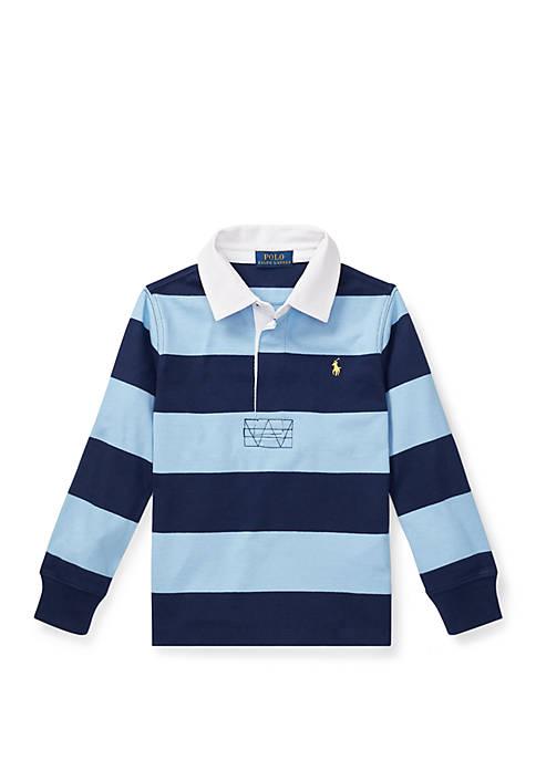 Ralph Lauren Childrenswear Boys 4-7 Striped Cotton Rugby