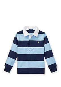 Ralph Lauren Childrenswear Boys 4-7 Striped Cotton Rugby Shirt