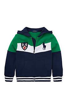 Ralph Lauren Childrenswear Boys 4-7 Twill Terry Letterman Jacket