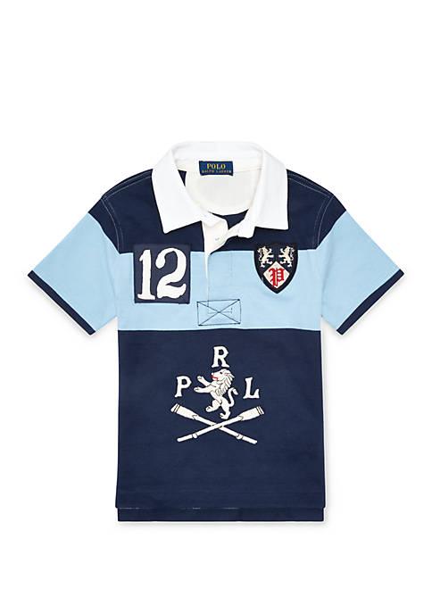 Ralph Lauren Childrenswear Boys 4-7 Cotton Graphic Rugby
