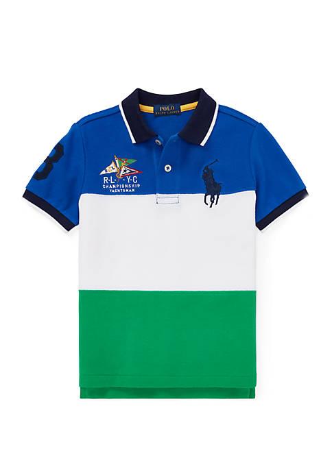 Boys 4-7 Cotton Mesh Polo Shirt